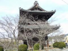 大門と桜の木