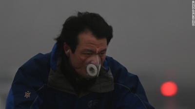 大気汚染の酷い中国