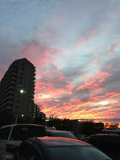 2013.9.8日曜18:25頃のカインズホームからの夕焼け(小)