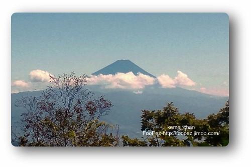 山頂から見た富士山
