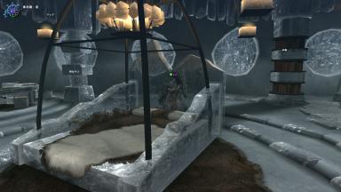 よく冷えた改装、ベッドが透き通ってます