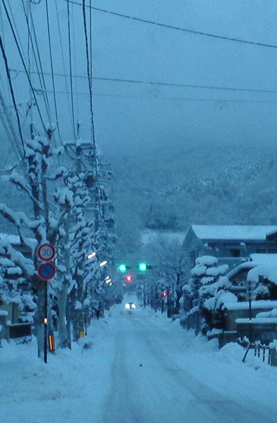 通勤途中・雪景色