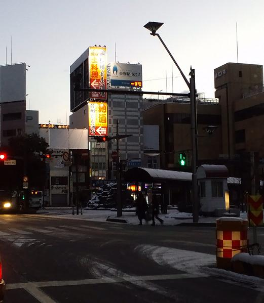 朝の長野駅