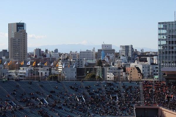 国立競技場から富士山遠望