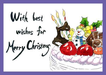 絵手紙クリスマス画像