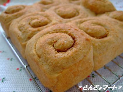黒糖きなこパン^^