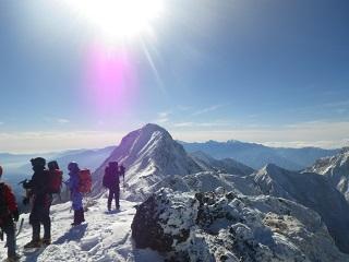 201312赤岳頂上