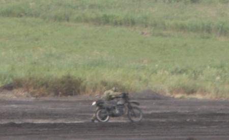 エンストするバイク