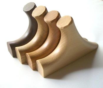 木製フック 4材種