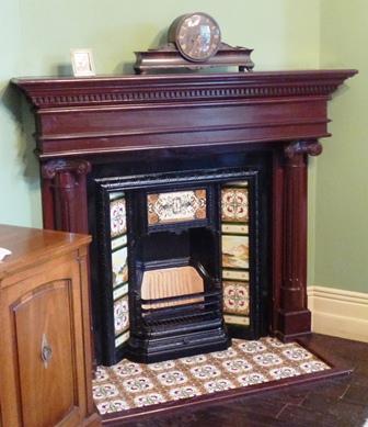 萌黄の館 暖炉
