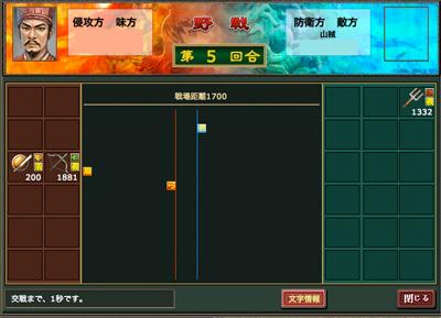 熱血三国-戦闘モード1