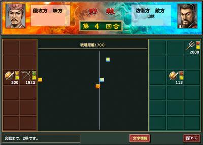熱血三国-戦闘モード2