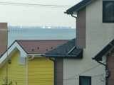 遠くに三浦半島城ケ崎