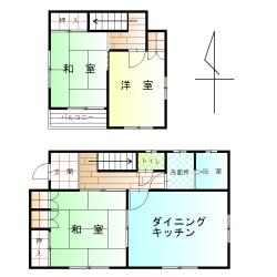 戸建の賃貸物件(賃料、60,000円)