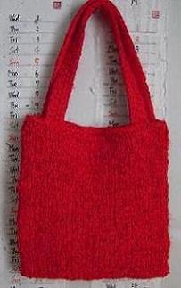 紅絹のバッグ 2