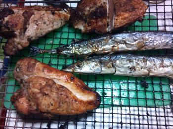 焼き魚、焼き鳥