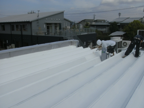 mini_一宮市 車(ディラー様) 屋根遮熱(ミラクール) 003