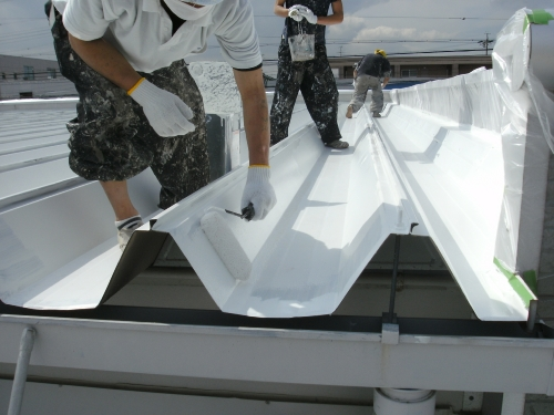 mini_一宮市 車(ディラー様) 屋根遮熱(ミラクール) 004