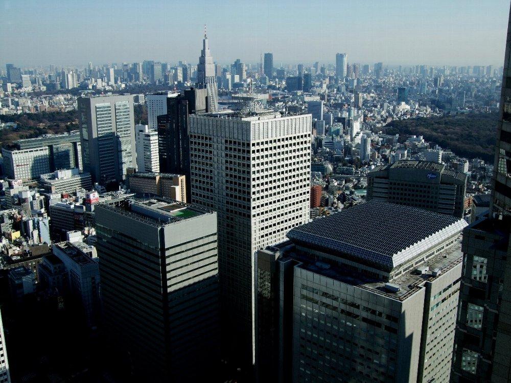 都庁から南東NTTビル