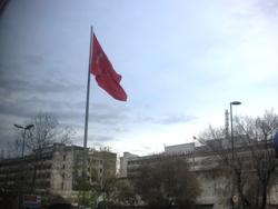 トルコ車窓旗