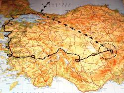 トルコ旅行ルート