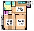 高円寺駅 賃貸 2DK リフォーム物件 間取