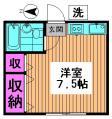南阿佐ヶ谷駅 賃貸 1R ドエルMK 203 間取