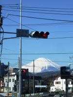 04 名古木交差点と富士山
