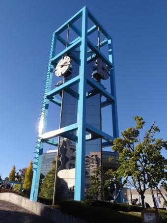 渋谷公会堂前の時計塔