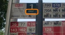 bus stop code