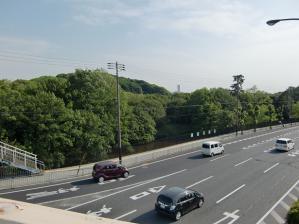 陸橋からの仁徳天皇陵