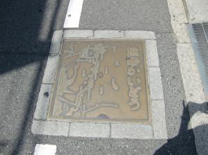 路面の案内図