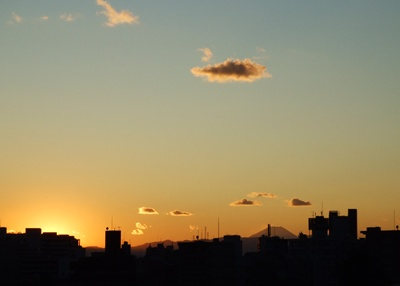 5日西郷山公園から富士山