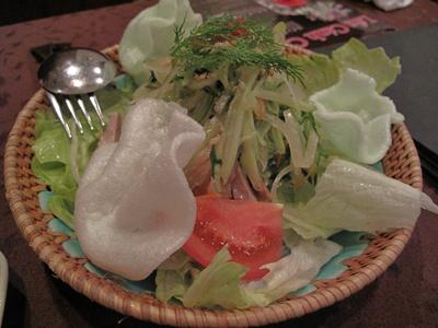 恵比寿 Nha Viet Nam ヴェトナム館 (ニャーベトナム)青パパイヤのサラダ