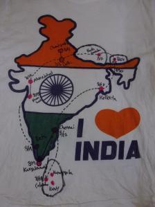 インド旅行の軌跡