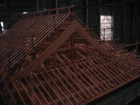 もうすぐ屋根工事