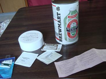 自ビールの缶