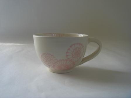 白釉ピンクヘナ入りカップ