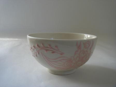 白釉ピンクヘナ入り茶碗