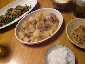 豚バラなん軟骨と大根の煮物