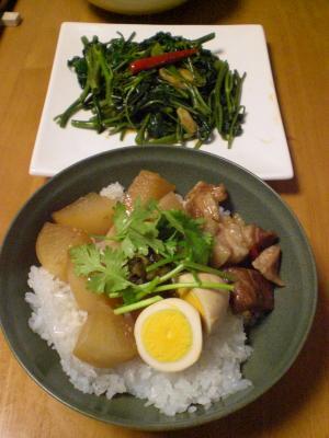 豚バラ・大根・卵の煮物