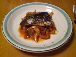 焼き鯖のラタトュウユ添え