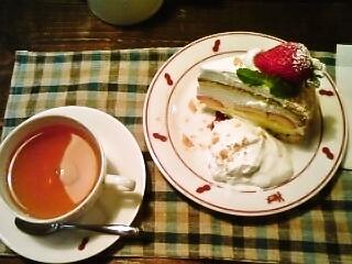 イチゴケーキ(上から)