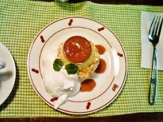 プリンケーキ(上から)