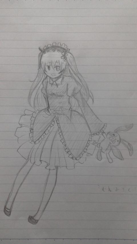 友達の描いた小鳩ちゃん