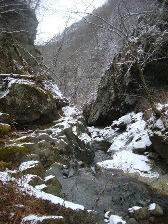 雪と氷の沢