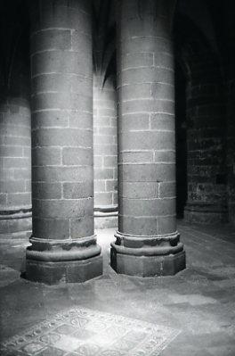 モンサンミッシェル 柱
