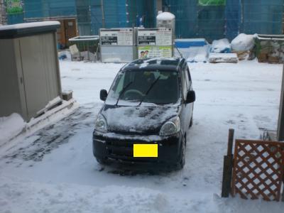 今季初雪かき