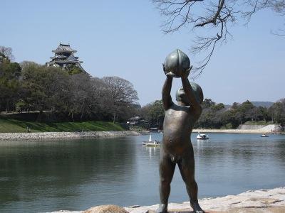 20100404_岡山城&ももくん
