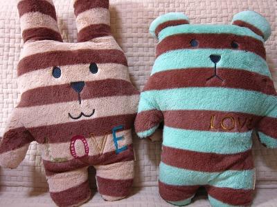 20100416_シマうさ&シマくま1